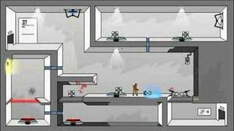 Portal- The Flash Version Walkthrough Levels 37-38