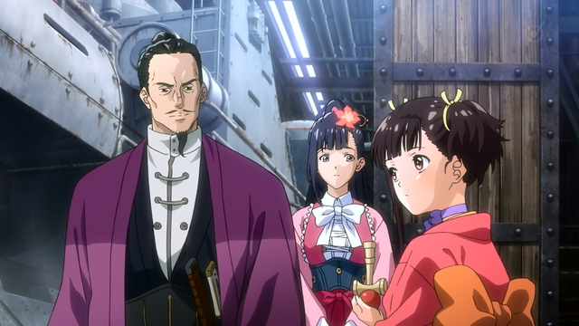 File:Kenshou with Ayame meeting Mumei.png
