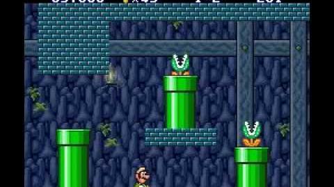 Super Mario Bros. 2 (SNES Lost Levels) Luigi Game World 1