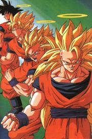 Three Super Saiyan Stages of Son Goku-1-