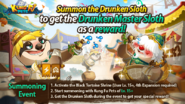 Drunken Sloth - Event Summoning