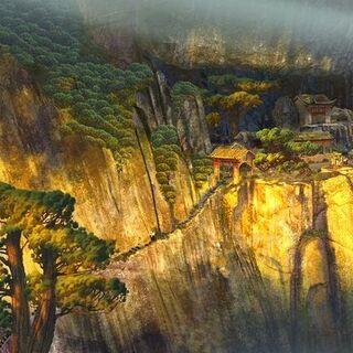 Concept artwork of the village by Tang Kheng Heng