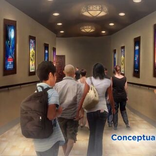 Concept art of the attraction interior