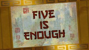 Five-is-enough-title