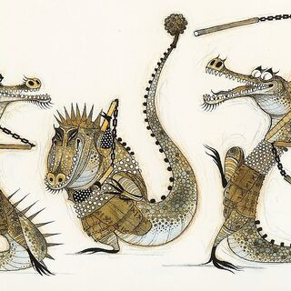 Early concept illustrations of Master Croc by Nicolas Marlet