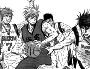 Izuki's Eagle Spear against Kise