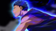 Aomine in the match against Kaijo