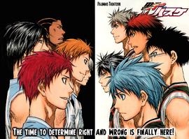 Rakuzan vs Seirin color