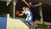 Kise copies Aomine's movements
