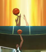 Papa Mbaye Siki's block and shot anime