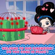 Love square watermelon