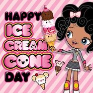 Baby Happy Ice Cream Cone Day