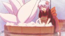Tamako cleaning the Fox