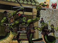Naga besieging Kyuden Hitomi
