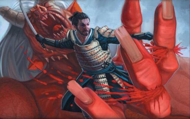 File:Kisada severing the fingers of the Crimson Mountain Oni.jpg