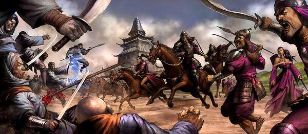 Ashalan vassals attack the Unicorn