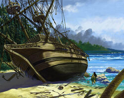 Tarao finds a gaijin shipwreck