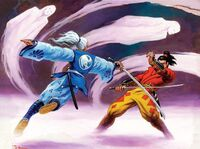 Kurohito and Hochiu dueling