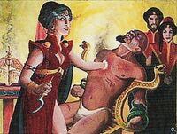 The Caliph interrogates Hekau