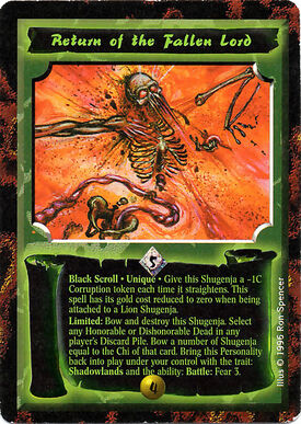 Return of the Fallen Lord-card