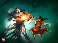 Nokatsu fighting a Phoenix