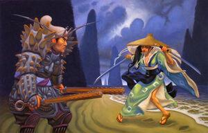 Tokichiro fighting Soetsuko