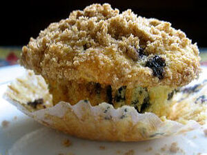 Blueberry Streusel Soy Muffins