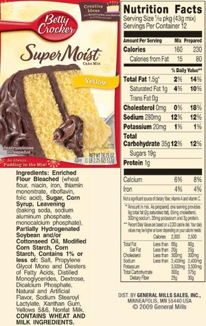 SuperMoist Yellow cake mix