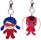 Ladybug Superhero Duo Plush Keychain Pack