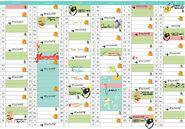 Adrien's schedule January to June