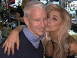 Lady Gaga and Anderson Cooper at the Raven Pub