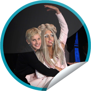 File:GetGlue Stickers - Lady Gaga on Ellen on December 9, 2011.png