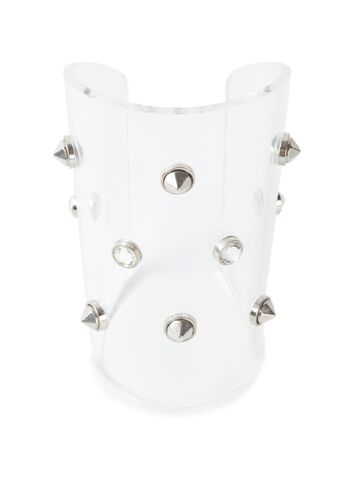 File:Alexander McQueen - Transparent studded cuff.jpeg