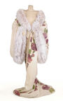 John Galliano - F98C - Opulent velvet and fur trained kimono