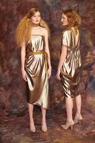 File:Tia Cibani - Pre-Fall 15C - Guilded Lame bandeau dress with hip sash.jpg