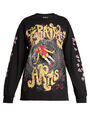 Blue Roses - Tarantula's Arms-print long-sleeved t-shirt