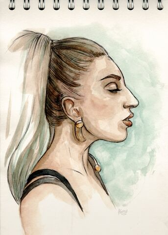 File:Gaga in Versace (Drawn at the Harrods FAME launch).jpg