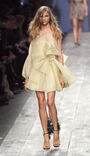 Valentino Spring 2010 RTW Lemon Silk Organza Strapless Dress
