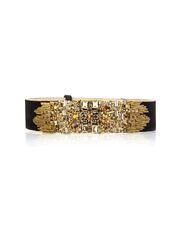 Alexander McQueen - Jewel-embellished wide satin belt