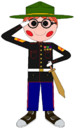Gunnery Sergeant Oorah dress blues (w) spectacles