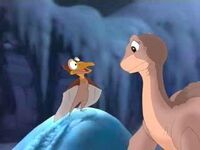 Petrie and Littlefoot in winter
