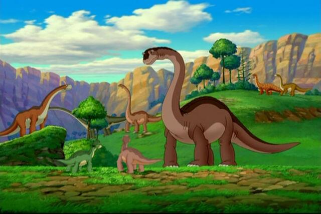 File:Saltasaurus In Background.jpg