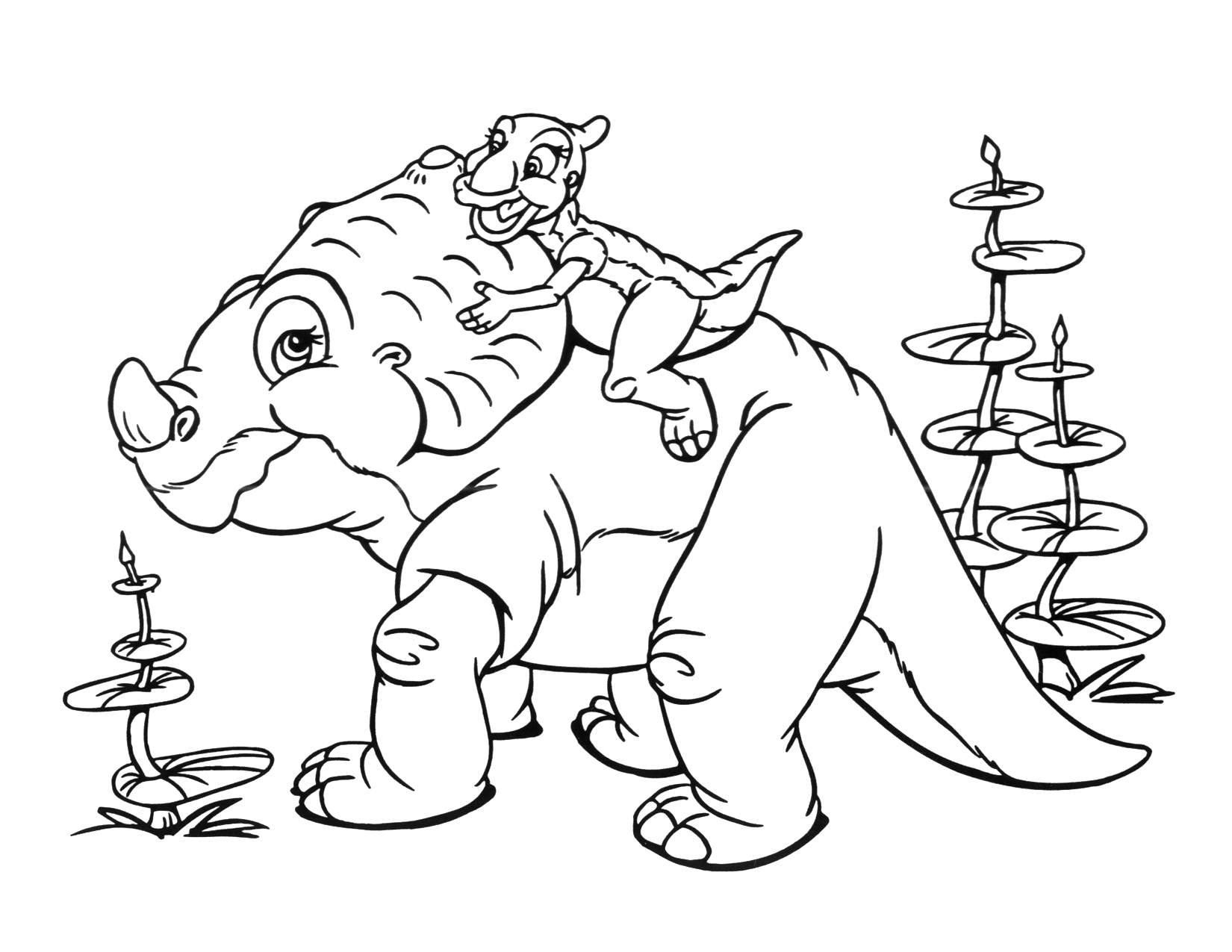 Image Coloring Page 2 movie 9png Land Before Time Wiki