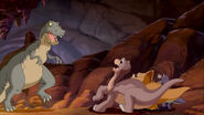 Red Claw attacking Littlefoot, Cera and Chomper