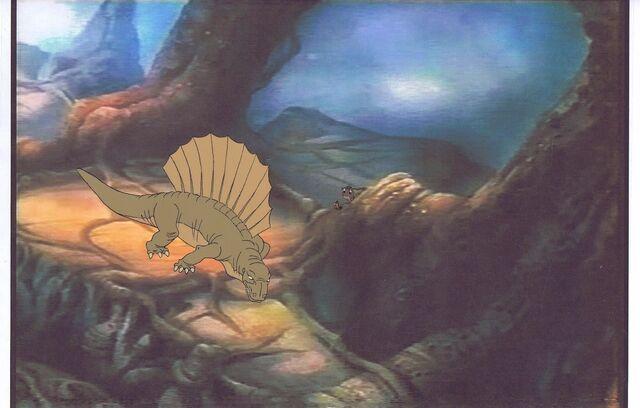 File:Land Before Time Original Production Cel Littlefoot & Copy Bkgd -A035.jpg