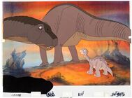The Land Before Time Littlefoot Production Cel