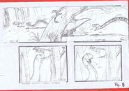 The Land Before Time 1988 Production Storyboard Copy Page 8 DON BLUTH -SH008