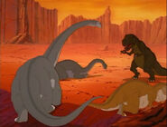 The Lone Dinosaur vs The Meanest Sharptooth Part 2