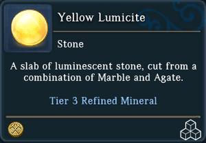 Yellow Lumicite