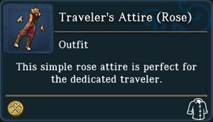 Travelers Attire Rose examine